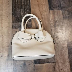 Handbags - Small Beige Bow Purse